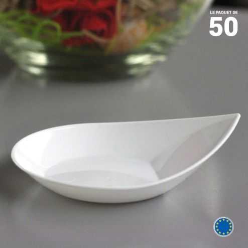 Verrine Smart blanche 3 cl . Recyclable - Réutilisable. Par 50.