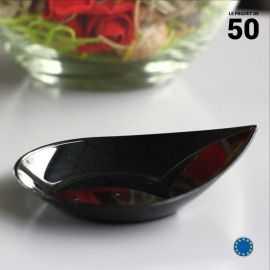 Verrine Smart noire 3 cl . Recyclable - Réutilisable. Par 50.