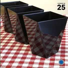 Verrine Diamant noire 10 cl. Recyclable - Réutilisable. Par 25.
