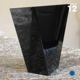Verrine Diamant noire 15 cl. Recyclable - Réutiisable. Par 12.