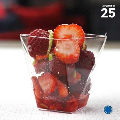Verrine Diamant cristal 10 cl. Recyclable - Réutilisable. Par 25.
