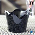 Verrine orchidée noire 9 cl .Recyclable - Réutilisable. Par 25.