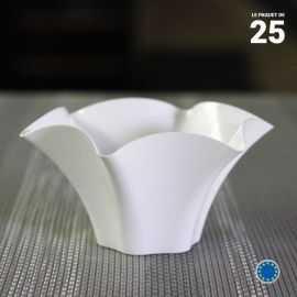 Verrine Petunia blanche 7 cl. Recyclable - Réutiisable. Par 25.