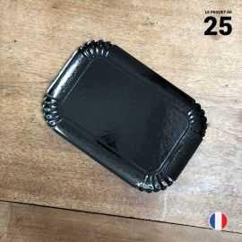 25 Plateaux en carton noirs 19 cm x 28 cm