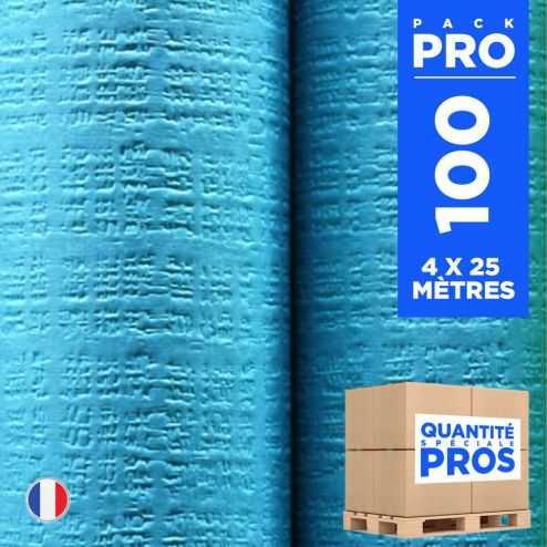 4 Nappes 25 mètres tendance lin. Turquoise.