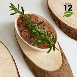 12 Mini-rondins en bois naturel 18cm