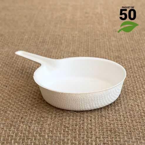 Verrine biodégradable Mini-Poêlon Par 50