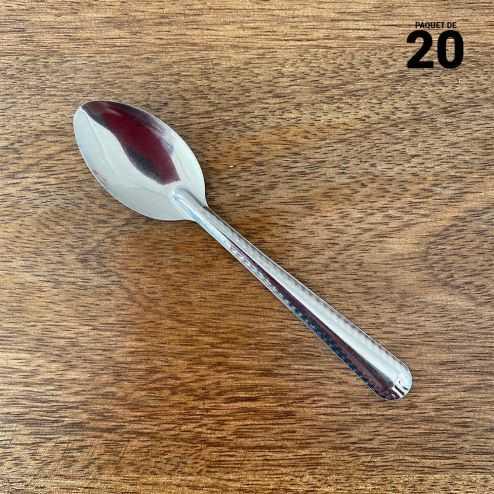 Mini-cuillères métal inox Par 20 verrines apéritives