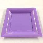 Assiettes en plastique carrées lilas