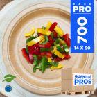 700 Assiettes kraft 22 cm. Biodégradables.