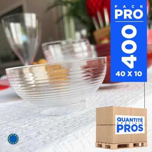 400 Mini-coupelles 6 cl. Recyclables - Réutilisables