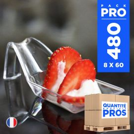 480 Cuillères design 3 cl. Recyclables - Réutilisables