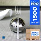 1500 Mini-fourchettes cristal. Recyclables - Réutilisables.