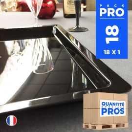 18 Plateaux luxe noirs. Recyclables - Réutilisables