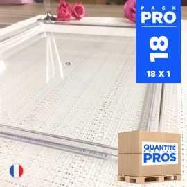 18 Plateaux luxe cristal. Recyclables - Réutilisables