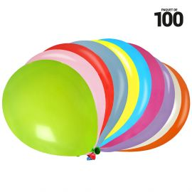 50 ballons gonflables 23 cm multicolores