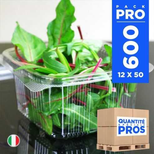 600 Barquettes fraîcheur 500 gr. Recyclables.