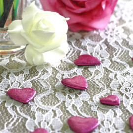 Confettis de table coeur Fuschia