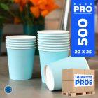 500 Gobelets bleu pastel 21cl. Carton recyclable