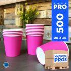 500 Gobelets fuchsia 21 cl. Carton recyclable