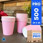 500 Gobelets rose 21 cl. Carton recyclable