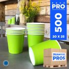 500 Gobelets vert anis 21 cl. Carton recyclable