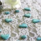 Confettis de table coeur Turquoise