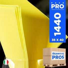 1440 Serviettes 38 cm x 38 cm jaune Soft 2 plis.
