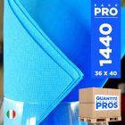 1440 Serviettes 38 cm x 38 cm turquoise Soft 2 plis.