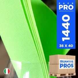 1440 Serviettes 38 cm x 38 cm vert anis soft 2 plis.