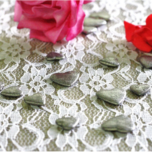Confettis de table coeur Gris