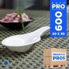 600 Cuillères Asie blanches. Recyclables - Réutilisables.