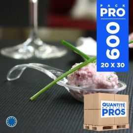 600 Cuillères Asie cristal. Recyclables - Réutilisables.
