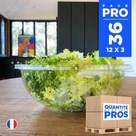 36 Saladiers 4,5 litres. Recyclables - Réutilisables