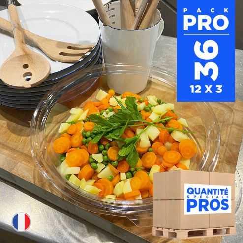 36 Saladiers 2,25 litres. Recyclables - Réutilisables