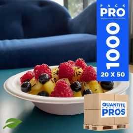 1000 bols multi-usages 40 cl biodégradables et compostables.