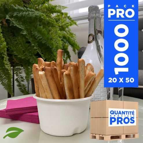 1000 coupelles hautes 32cl biodégradables et compostables.