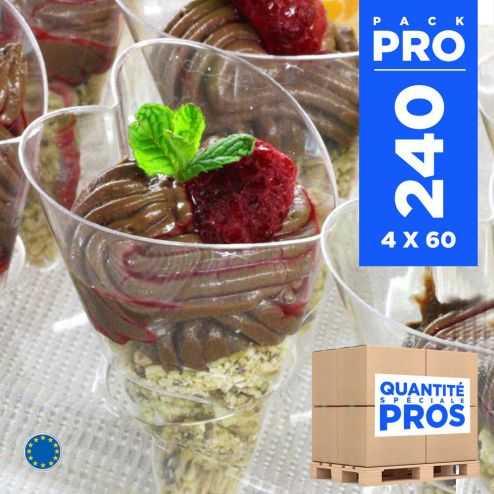 4 Coffrets 60 verrines 6 cl. Recyclables - Réutilisables.