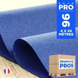 4 chemins de table intissé bleu foncé 24 mètres.