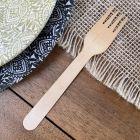 Fourchettes bois 16,5cm biodégradables Par 50