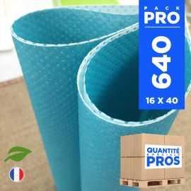 640 Serviettes 40 cm x 40 cm. Biodégradables bleues.