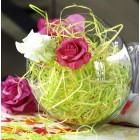 Paille décorative  jaune-vert