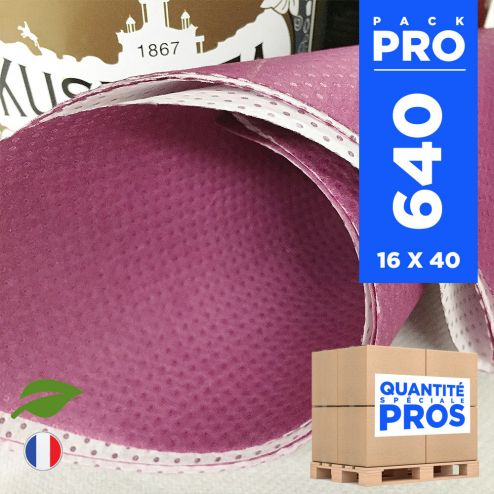 640 Serviettes 40 cm x 40 cm. Biodégradables prune.