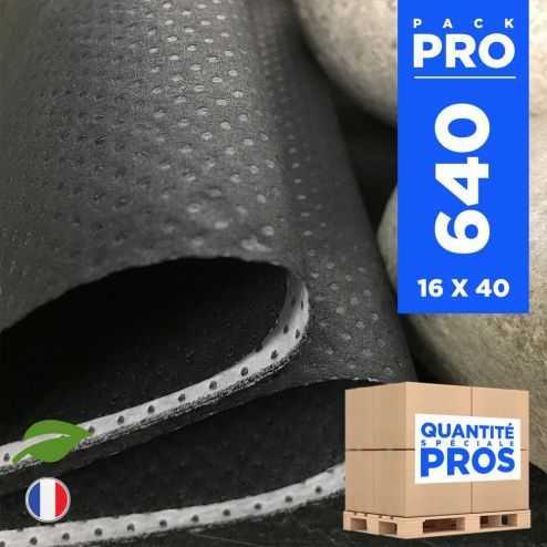 640 Serviettes 40 cm x 40 cm. Biodégradables granit.