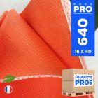640 Serviettes 40 cm x 40 cm. Biodégradables orange.