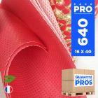 640 Serviettes 40 cm x 40 cm. Biodégradables rouges.