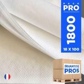 1800 Serviettes 39 x39 cm Ouate blanche 2 plis