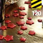 Confettis de table étoiles 3D. Rouges.