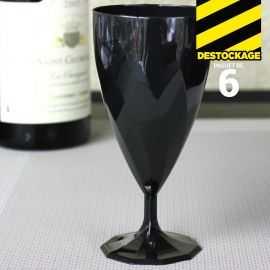 Verres à eau en plastique noir design 20-24 cl.