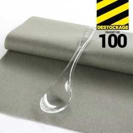 100 Cuillères dessert cristal. Recyclables.